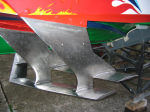 Closeup of shiny front wings