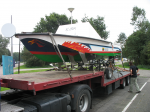 Volga on trailer