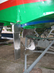 Aft - rudder, wing, propellor